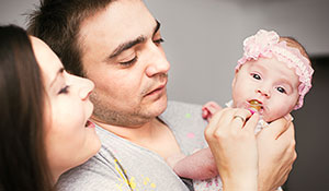 A heterosexual couple interested in surrogacy