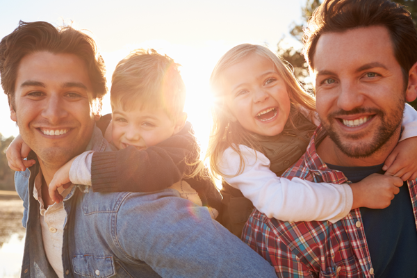 A same sex male couple interested in surrogacy   Paul and Tom had been married for 3 years and had spent most of that time planning and setting up their surrogacy journey